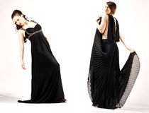 ELEGANT WOMEN in evening dress Royalty Free Stock Image