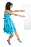 Elegant women pushing copyspace Royalty Free Stock Photos