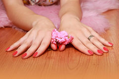 Elegant women's hands Stock Photo