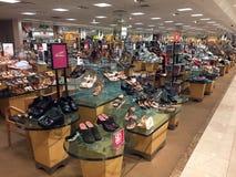 Elegant women`s shoes on display Stock Image