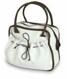 Elegant Women's white and brown bag  Stock Photos