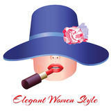 Elegant women style royalty free stock photos