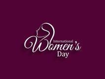 Elegant womens day card design. royalty free illustration