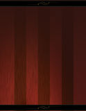 Elegant Wood Background I. A variegated red wood background (presumably cherry or mahogany) with a spotlight effect in lower left. there are black headers/ Royalty Free Illustration