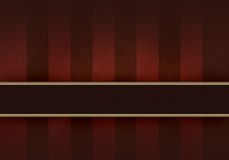Elegant Wood Background II. A variegated red wood background (presumably cherry or mahogany) with a maroon stripe across. There is gold trim. The size is 8.5 x Stock Illustration