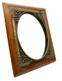 Elegant Wood and Brass Photo Frame. An Old Style Brass and Wooden Photo Frame Royalty Free Stock Image