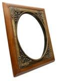 Elegant Wood and Brass Photo Frame Royalty Free Stock Image
