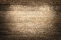 Elegant wood planks background. Nicely illuminated with spotlights to draw the attention Royalty Free Stock Photos