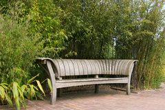 Elegant Wooden Bench Royalty Free Stock Photo