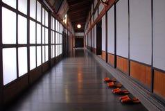 Elegant wooden corridor Stock Photo