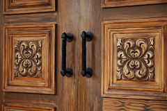 Elegant Wooden Doors Stock Photo