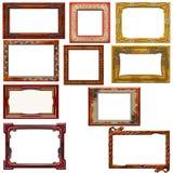 Elegant wooden  frames Royalty Free Stock Photos