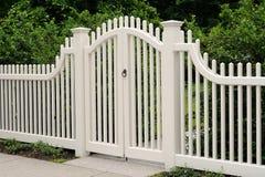 Elegant Wooden Gate Royalty Free Stock Image