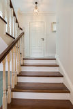 Elegant and wooden stairs Royalty Free Stock Images