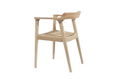 Elegant Wooden weaved Chair Stock Images