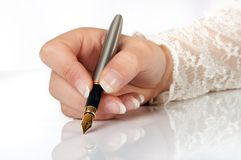 Elegant writing Stock Photography