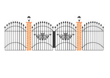 Elegant wrought iron gates wit Royalty Free Stock Photo