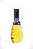 Elegant yellow perfume Stock Photography