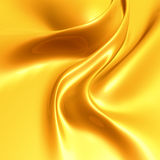 Elegant yellow silk satin Stock Photography