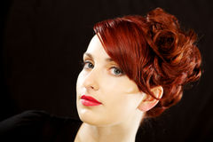 Elegant young beautiful redhead Royalty Free Stock Photo