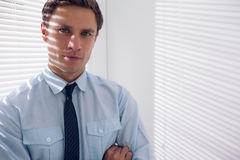 Elegant young businessman in office Royalty Free Stock Photo