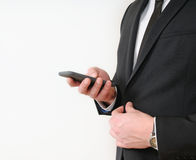 Elegant young businessman using his  tablet Stock Photography