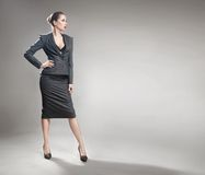 Elegant young businesswoman royalty free stock image