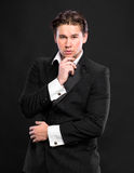 Elegant young handsome man Stock Photography