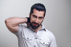 Elegant young handsome man fashion portrait Royalty Free Stock Photography