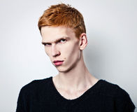 Elegant young handsome man. Stock Images