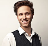 Elegant young handsome man. Royalty Free Stock Photography