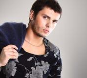 Elegant young handsome man Stock Photos