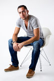 Elegant young handsome man. Studio fashion portrait Stock Photography