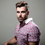 Elegant young handsome man. Studio fashion portrait. Royalty Free Stock Photos