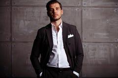 Elegant young handsome man. Studio fashion portrait Royalty Free Stock Image