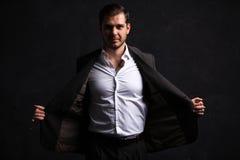 Elegant young handsome man. Studio fashion portrait Stock Image