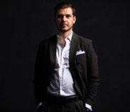 Elegant young handsome man. Studio fashion portrait Stock Images