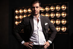 Elegant young handsome man. Studio fashion portrait Royalty Free Stock Photos