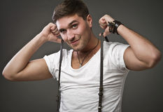 Elegant young handsome man. Studio fashion portrait. Stock Images