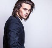 Elegant young handsome man. Studio fashion portrait. Stock Images