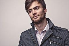 Elegant young handsome man. Studio fashion portrait. Stock Image