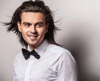 Elegant young handsome man. Studio fashion portrait. Royalty Free Stock Photography
