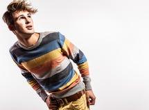 Elegant young handsome man. Studio fashion portrait. Royalty Free Stock Image
