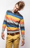 Elegant young handsome man. Studio fashion portrait. Stock Photos