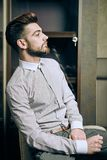 Elegant young man indoor Stock Photography