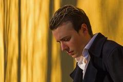 Elegant Young Man's Sun Sunset Royalty Free Stock Photos