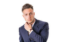 Elegant young man with suit isolated Stock Image