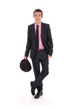 Elegant young man in a suit Royalty Free Stock Images
