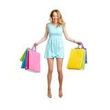 Elegant young shopper Stock Photography
