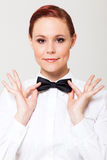 Elegant young waitress Stock Photo